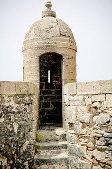 Wall, Tower, Turret, The Observation Tower, Essauira