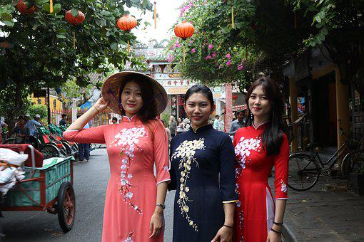 Girls, Vietnam, People, Young, Woman, Asia, Thailand