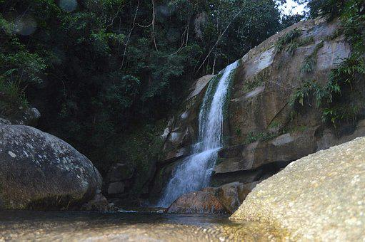 Waterfall, Water, Landscape, Nature, River, Waters