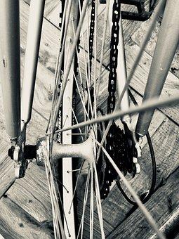 Rim, Chain, Bike, Mechanisms, Wheel, Bicycle, Wheels