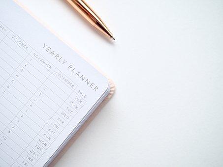 Planner, 2019, Year, Calendar, Schedule, Date, February