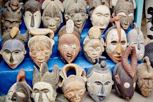 Masks, Africa, Faces, Mask, Culture, Wood, Art, Antique