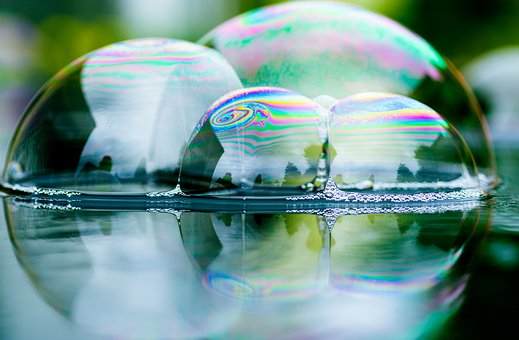 Soap Bubbles, Mirroring, Reflection, Fun, Water, Balls