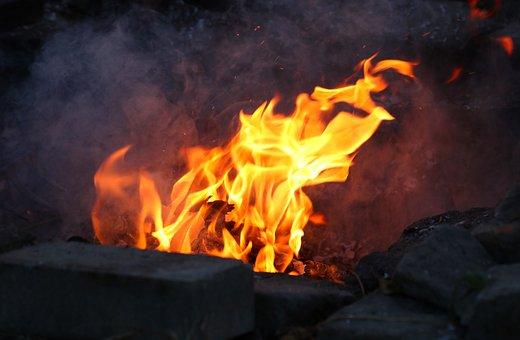 Fire, Flames, Bonfire, Fireplace, Flame, Heat, Orange