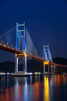Bridge, Pier, Cable-stayed Bridge, Sea, Post