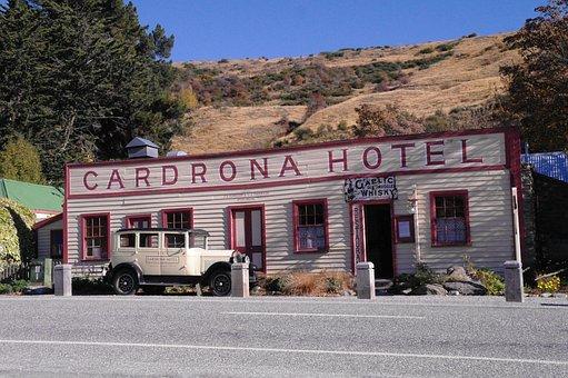 New Zealand, South Island, Cardrona, Hotel, Landscape
