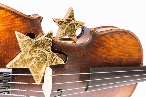 Violin, Star, Christmas, Advent, Christmas Song