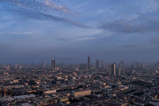 Bangkok, View, Thailand, City View, City, Sky