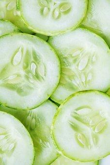 Background, Bright, Close Up, Cold, Cucumber, Cut
