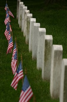 Veterans Day, Flag, Funeral, Death, Headstone, Cemetery