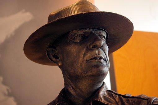 Park Ranger Sculpture, Sculpture, Statue, Figure