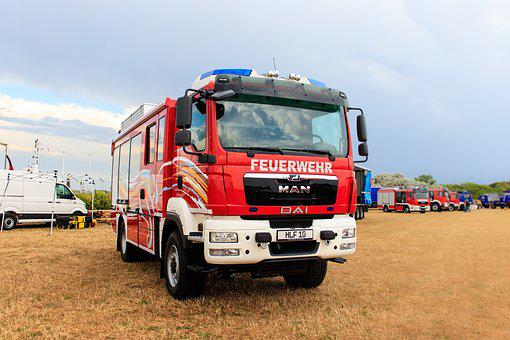 Fire, Fire Truck, Vehicles, Germany, Norddeich, One