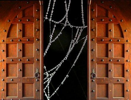 Door, Goal, Cobweb, Input, Architecture, Portal, Old
