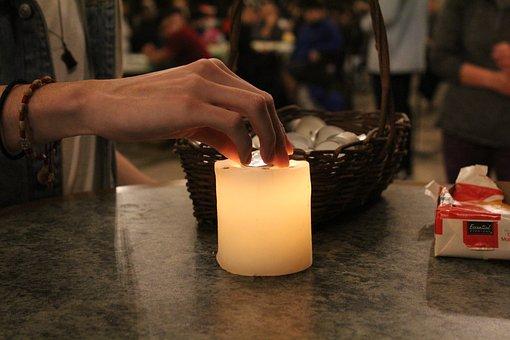 Candle, Lighting, Hand, Basket, Dia De Los Muertos