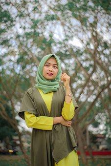 Hijab, Model, Indonesia, Women, Girl, Asia, Beauty