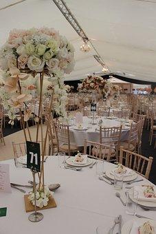 Flowers, Tables, Wedding, Interior