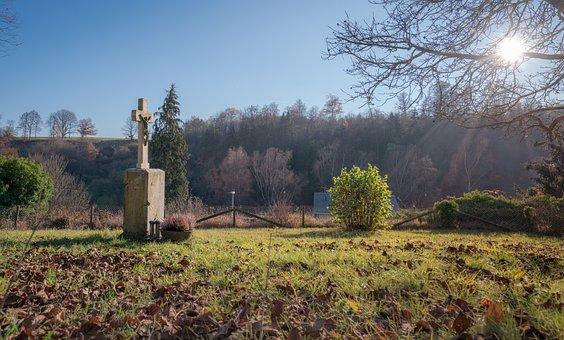 Cemetery, Cross, Tombstone, Rush, Landscape, Religion