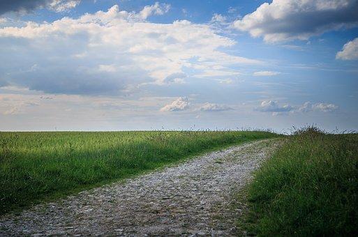 Lane, Spring, Landscape, Barren Landscape
