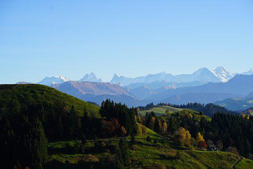 Bernese Alps, Mountains, Alpine, Alpine Panorama