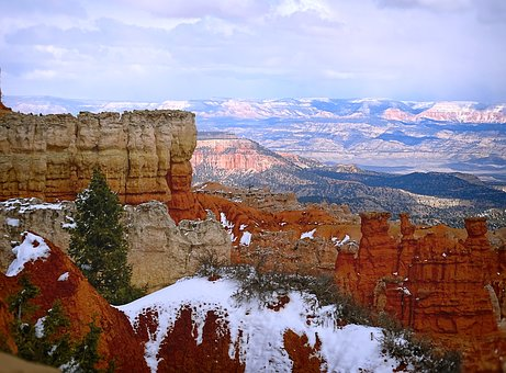 Bryce Canyon, National Park, Utah, Usa, Winter, Wintry