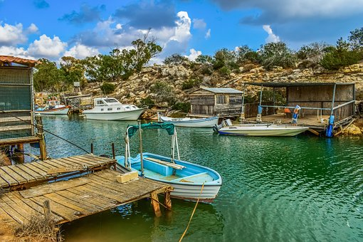 Fishing Boats, Hut, Dock, Fishing Shelter, Picturesque