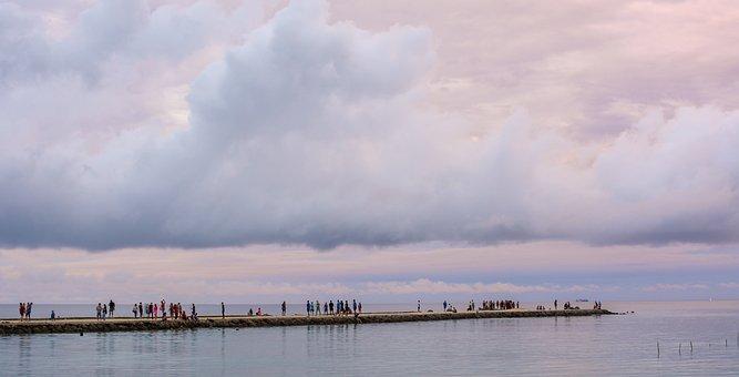 Clouds, Tonga, Golden Hour, Pier, Sky, Sunset