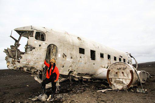 Iceland, Airplane, Plane, Aircraft, Wreck, Airport