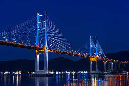 Bridge, Pier, Cable-stayed Bridge, Post, Sea
