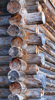 Wood, Block House, Rustic, Rural, Architecture