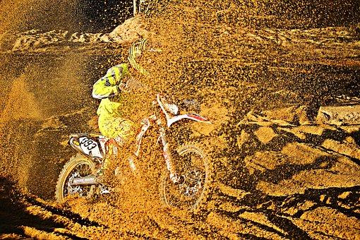 Sand, Dirtbike, Motor, Motocross, Cross, Racing