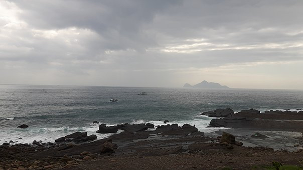 Taiwan, The Northeast Corner, Rock, Ilan, Sea, Marine