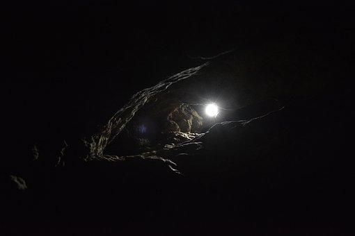 Dark, Light, Cave, Night, Sky, Shining, Signal, Shadow