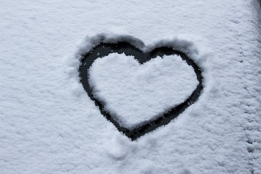 Heart, Snow, Frost, Car Washer, Winter, Cold, Love