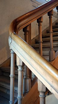 Stairs, Old, Wood, Staircase, Historically