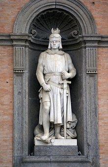 Naples, Italy, Piazza Plebiscito, Statue, King, Emperor