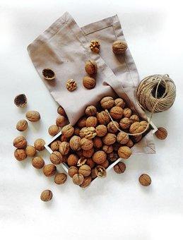 Nuts, Walnut, Food, Fruit, Harvest, Still Life, Layout