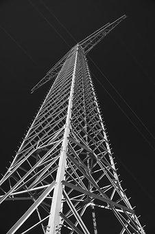 Strommast, Power Line, Pylon, Sky, Line, Reinforce