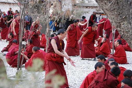 Tibet, Monks, Training