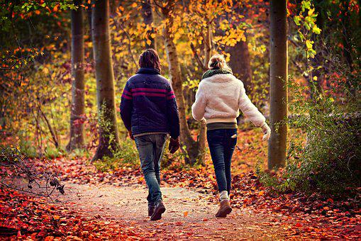Man, Woman, Couple, Friends, Walking, Together