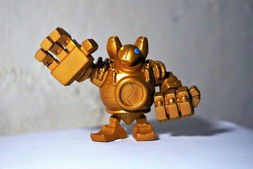 Toy, Figurine, Small, Cute, Blitzcrank, Online, Game