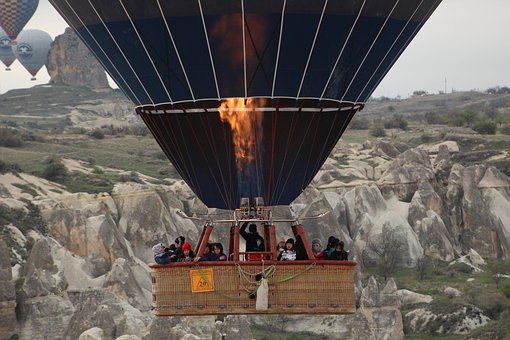 Cappadocia, Turkey, Travel, Air, Landscape, Hot