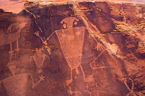 Cub Creek Petroglyphs, Petroglphs, Rock, Art, Figure