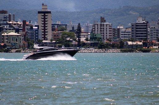 Boat, Beira-mar Norte, Mar, Nature, Water, Beach, City