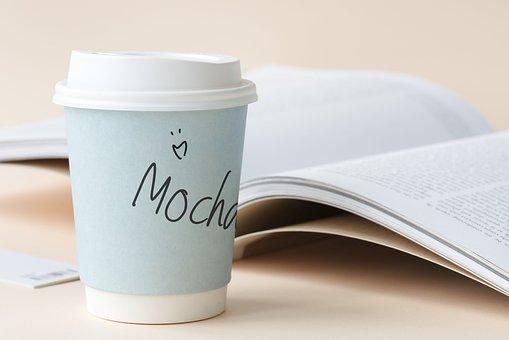 Aerial, Beverage, Blank, Book, Clean, Closeup, Coffee