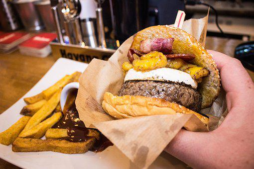 Burger, Barbecue, Meat, Bread, Cheese, Restaurant