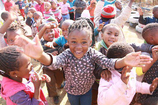 Soweto, Village, Happiness, Africa, Children, Preschool