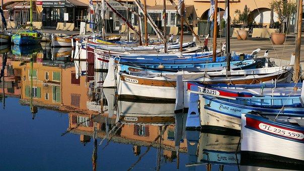 Sanary-sur-mer, Riviera, Côte D'azur, Sailboats, Boats