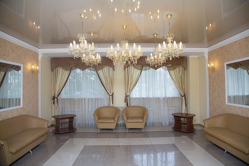Hall, Chandelier, Interior, Design, Room