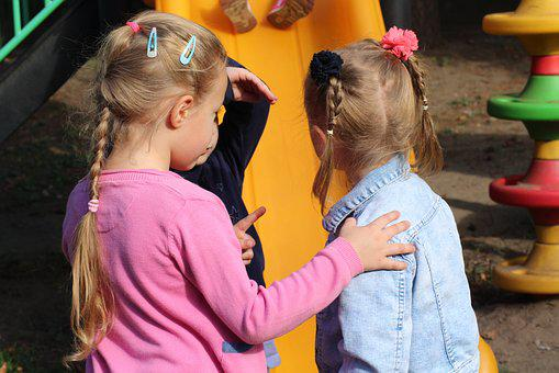Children, Girls, Conversation, Discussion, Translate