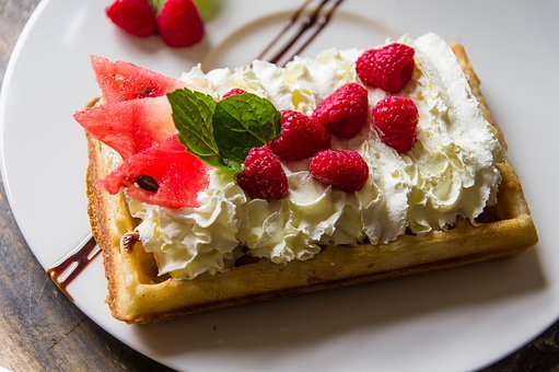 Waffles, Eating, Tasty, Delicious, Gourmet, Fresh